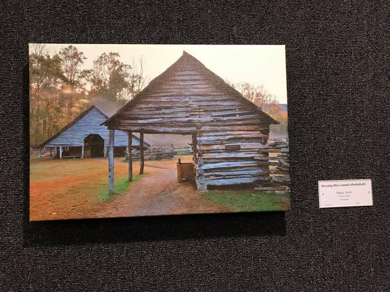 """Morning Rise"" by Marcy Scott, Visual Art - Honorable Mention Cherokee Homecoming Art Show"